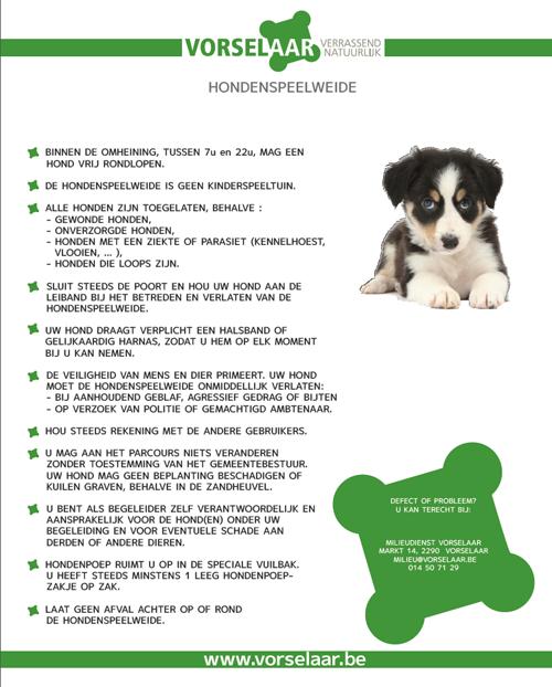 regels hondenspeelweide